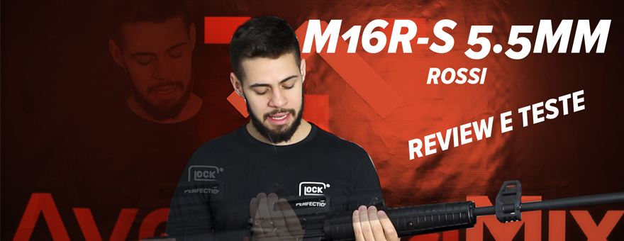 Review e Teste da Carabina Rossi M16R-S 5.5mm