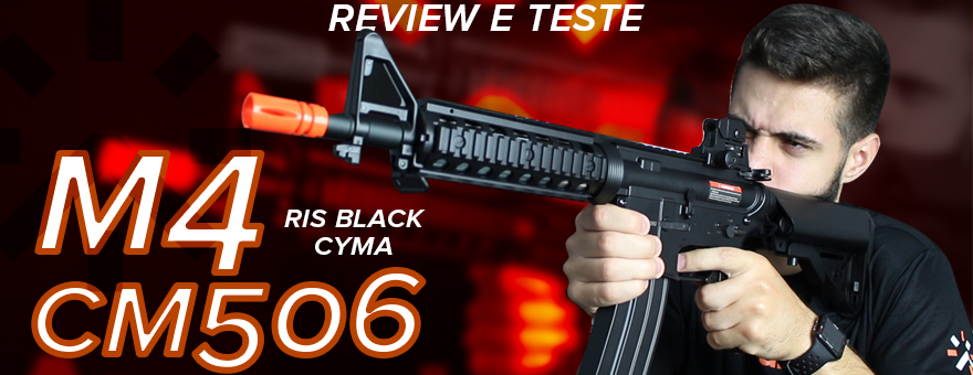 Review e Teste Rifle Airsoft AEG CM506 CYMA